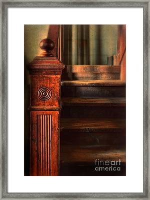 Old Staircase Framed Print by Jill Battaglia