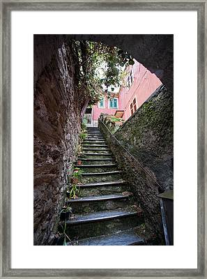 Old Stairwell  Framed Print by Mike Reid