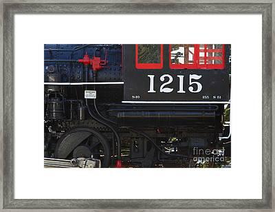Old Steam Locomotive Engine 1215 . 7d13007 Framed Print