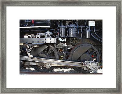 Old Steam Locomotive Engine 1258 . Wheels . 7d13000 Framed Print
