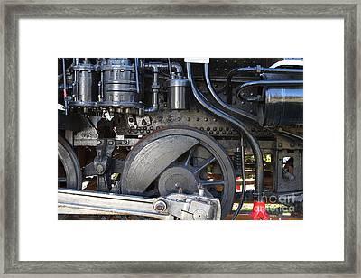 Old Steam Locomotive Engine 1258 . Wheels . 7d13001 Framed Print