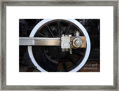 Old Steam Locomotive Engine 5 . The Little Buttercup . Train Wheel . 7d12916 Framed Print by Wingsdomain Art and Photography