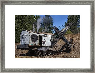 Old Steam Shovel  Framed Print by Garry Gay