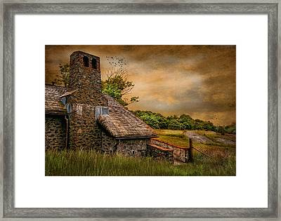 Old Stone Countryside Framed Print by Robin-Lee Vieira