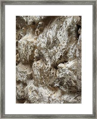 Framed Print featuring the photograph Old Stone Wall by Christophe Ennis