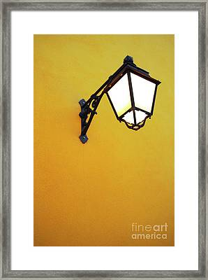 Old Street Lamp Framed Print by Carlos Caetano