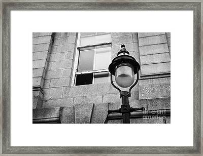Old Sugg Gas Street Lights Converted To Run On Electric Lighting Aberdeen Scotland Uk Framed Print by Joe Fox
