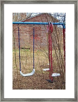 Old Swing Set-2 Framed Print by Todd Sherlock