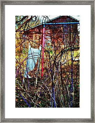 Old Swing Set Framed Print by Todd Sherlock