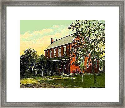 Old Tavern In Scenery Hill Pa Framed Print by Dwight Goss