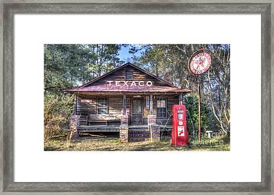 Old Texaco Service Station Framed Print by Dustin K Ryan