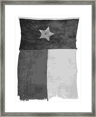Old Texas Flag Bw10 Framed Print by Scott Kelley