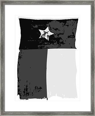 Old Texas Flag Bw3 Framed Print by Scott Kelley