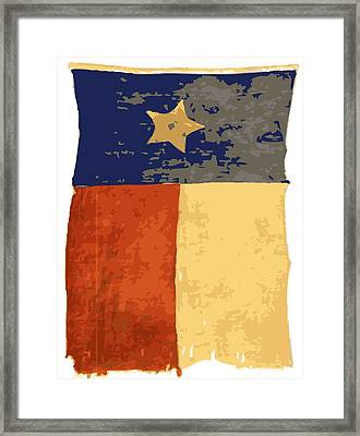 Old Texas Flag Color 16 Framed Print by Scott Kelley