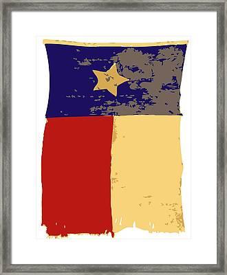 Old Texas Flag Color 6 Framed Print by Scott Kelley