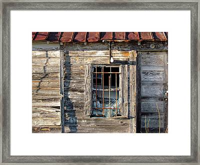 Old Textured Shed Framed Print