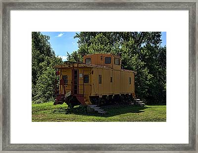 Old Time Caboose Framed Print by Tim McCullough