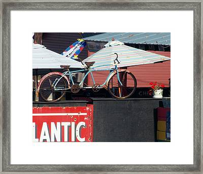 Old Time Double  Bicycle Framed Print by Angelika MacDonald