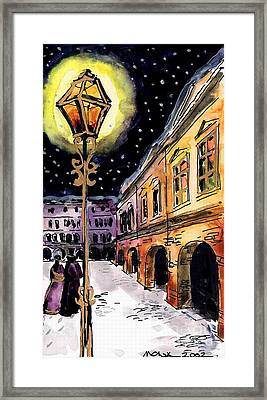 Old Time Evening Framed Print by Mona Edulesco