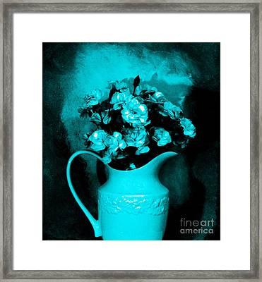 Old Time Pitcher Bouquet Framed Print by Marsha Heiken