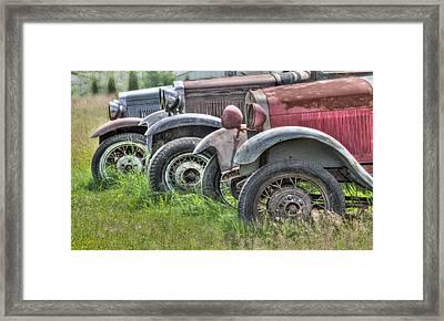 Old Timers Framed Print