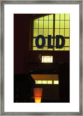 old Framed Print by Todd Sherlock