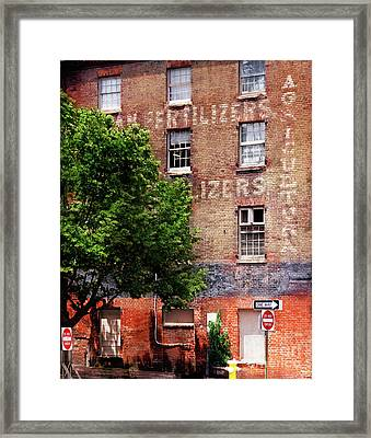 Old Town Alexandria Framed Print by Susan Isakson