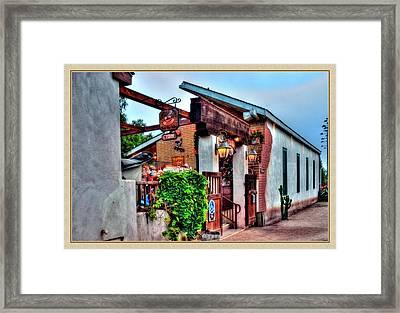 Old Town El Mercado Framed Print