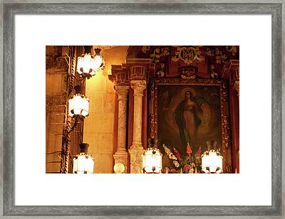 Framed Print featuring the photograph Old Town Grotto by Lorraine Devon Wilke
