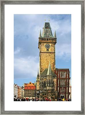 Old Town Hall Prague Cz Framed Print by Christine Till