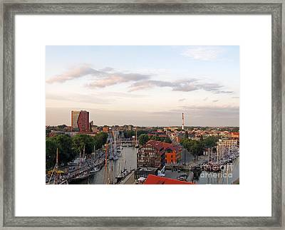 Old Town Klaipeda. Lithuania. Framed Print