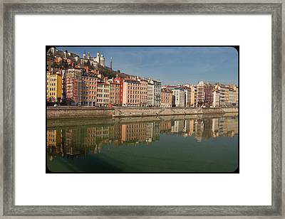 Old Town Of Lyon Framed Print by Niall Sargent