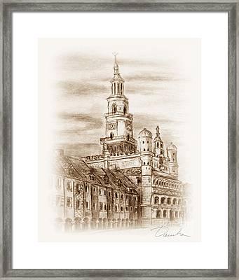 old town Poznan Framed Print by Danuta Bennett