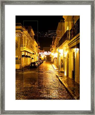 Old Town San Juan Framed Print by Gordon Engebretson
