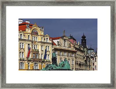 Old Town Square In Prague Framed Print by Christine Till