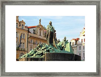 Old Town Square Framed Print by Mariola Bitner