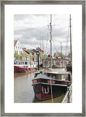 Old Town With Harbor Framed Print by Steve K
