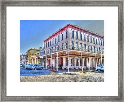 Old Towne Sacramento Framed Print by Barry Jones