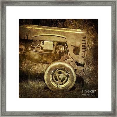 Old Tractor Framed Print by Bernard Jaubert