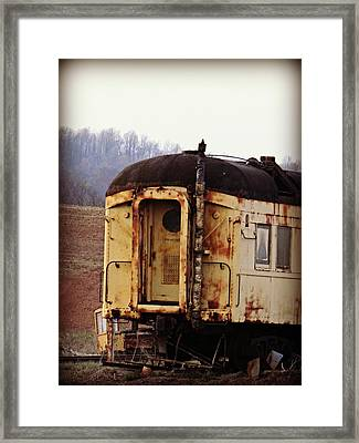 Old Train Car Framed Print by Brenda Conrad
