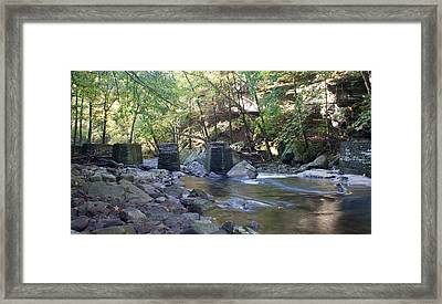 Old Train Trestles Framed Print by David Troxel
