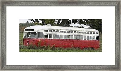 Framed Print featuring the photograph Old Tram-street Car by Nick Mares