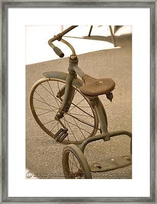 Old Trike Framed Print by Paula Deutz