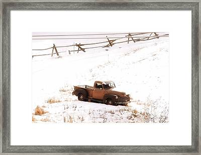 Old Truck Framed Print by Angelique Olin