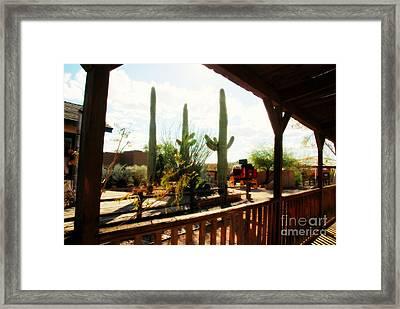 Old Tuscon Movie Studio Theme Park Framed Print by Susanne Van Hulst