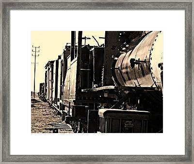 Old Unused Train Framed Print by Elizabeth  Doran