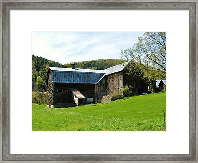 Framed Print featuring the photograph Old Vermont Barn by Sherman Perry