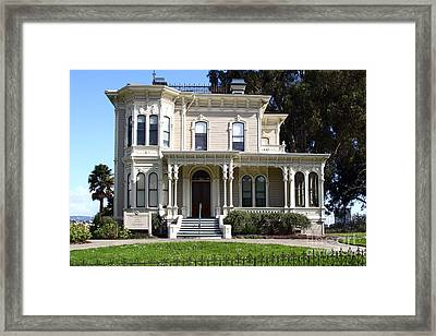 Old Victorian Camron-stanford House . Oakland California . 7d13440 Framed Print by Wingsdomain Art and Photography