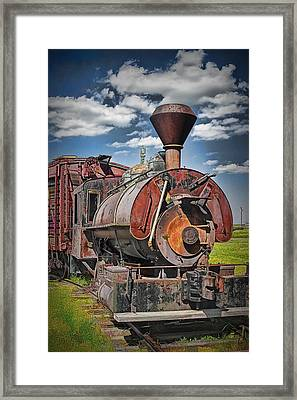 Old Vintage 1880's Railroad Train No.0394.4 Framed Print