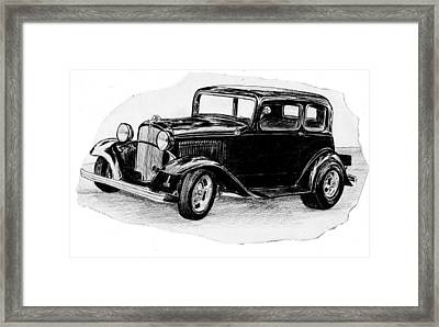 Old Vintage Funny Car Framed Print